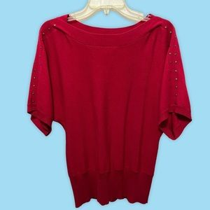 3/4 Sleeve Red Top